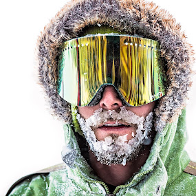 Iced by Lance Emerson - People Portraits of Men ( winter, ice, snow, colorado, beard, snowboarding, Travel, People, Lifestyle, Culture )