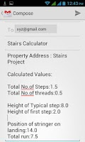 Screenshot of Stairs Calculator