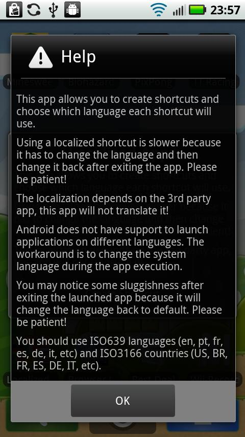 Localized Apps- screenshot