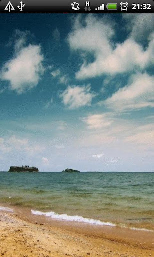 Beach Ocean Waves LWP