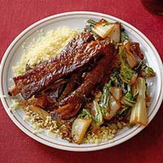 Braised Pork Ribs with Bok Choy.