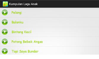 Screenshot of Kumpulan Lagu Anak-anak