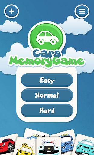 为孩子们的汽车记忆游戏