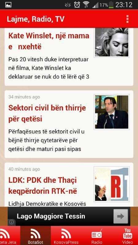 Lajme, Radio, Muzik, Tv Shqip - screenshot