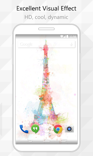 Colorful Eiffel Live Wallpaper