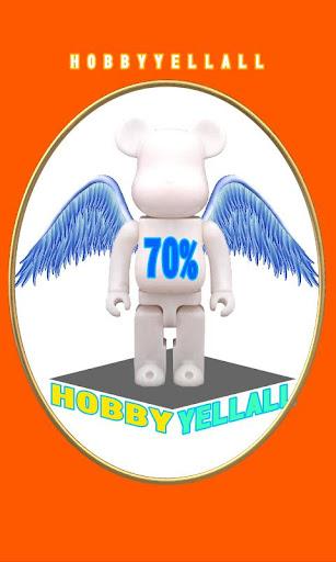 HOBBYYELLALL BEARBRICK 70