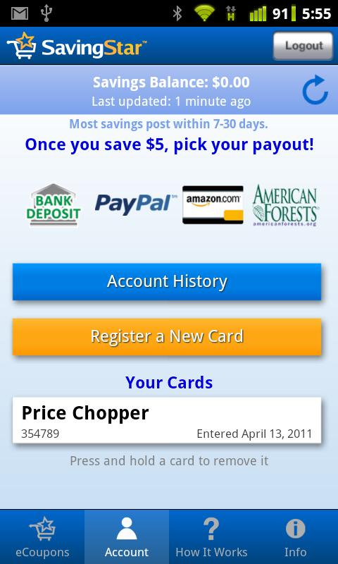 Save $s with free paperless grocery coupons at your favorite stores! Link your store loyalty cards, add coupons, then shop and save. Get App; Coupon Codes. Shop online with coupon codes from top retailers. Get Sears coupons, Best Buy coupons, and enjoy great savings with a Nordstrom promo code.