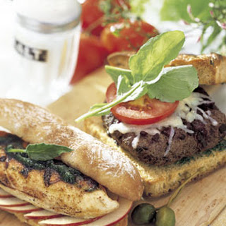 Grilled Chicken Sandwiches with Sage Pesto and Apples Recipe