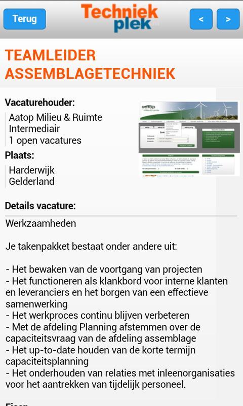 Techniekplek.nl - screenshot