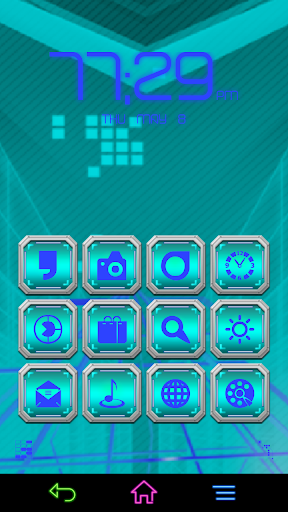 Rock Cyan for Smart Launcher