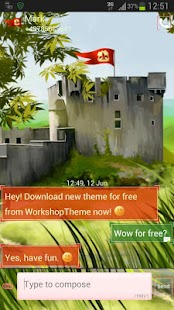 GO SMS Theme Castle - screenshot thumbnail