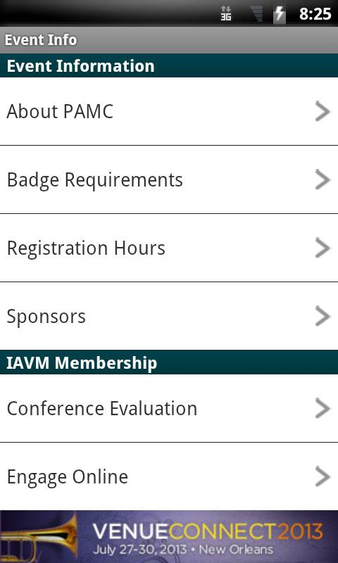 IAVM Performing Arts Managers- screenshot