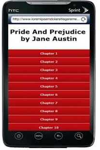 Pride And Prejudice book - screenshot thumbnail