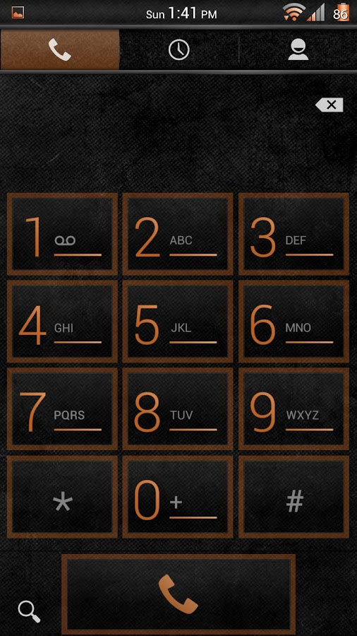 Stone Grunge Orange CM11 Theme- screenshot