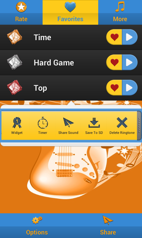 Free Guitar Ringtones - screenshot