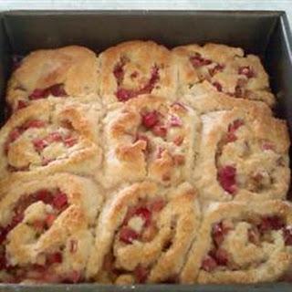 Rhubarb Cranberry Roll Ups