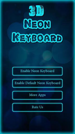 3D Neon Keyboard