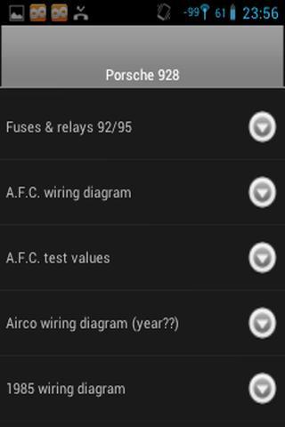 Porsche 928 fuse/relay charts- screenshot