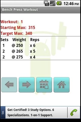 Bench Press Workout - screenshot
