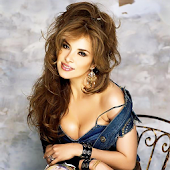 Gloria Trevi Blue Fan