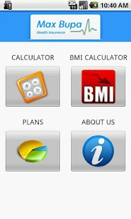 Max Bupa Premium Calculator - screenshot thumbnail