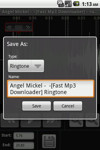 Mp3 To RingTone- screenshot