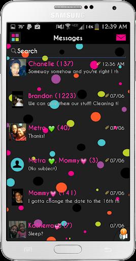 Sweet Pea Go SMS Theme