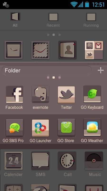 Omigod - GO Launcher Theme - screenshot