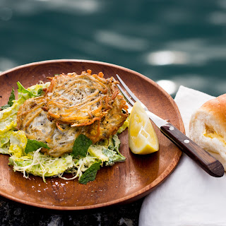 Whitebait Patties And Minted Salad.