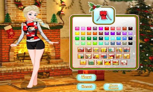 Elsa Christmas Coloring