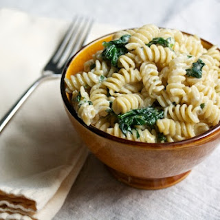 Rotini with Blue Cheese & Spinach.