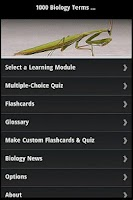 Screenshot of 1000 Biology Terms & Quiz