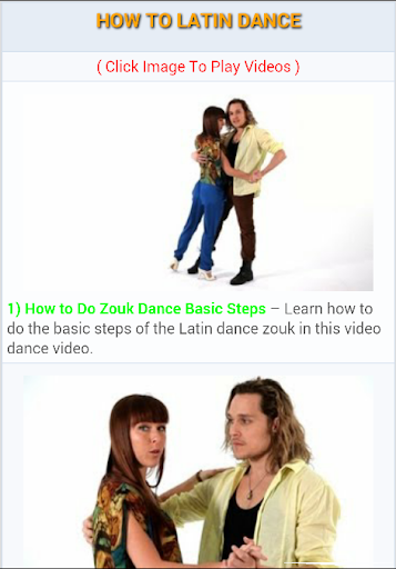 How to Latin Dance