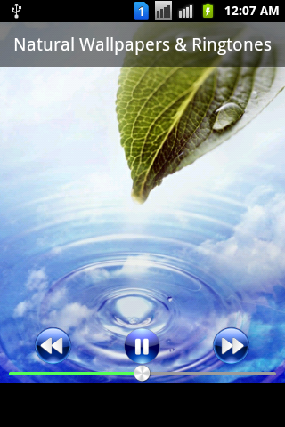 Wallpaper of Nature & Ringtone - screenshot