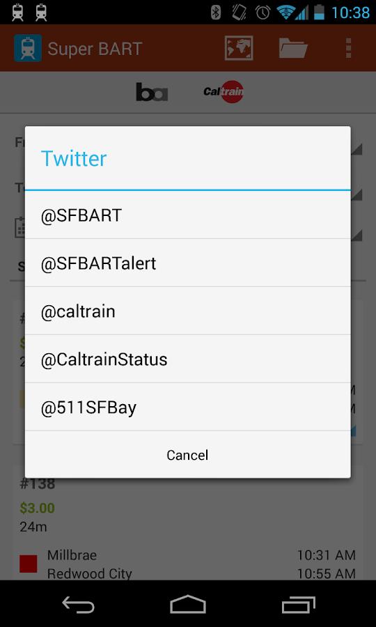 Super BART (and Caltrain) - screenshot