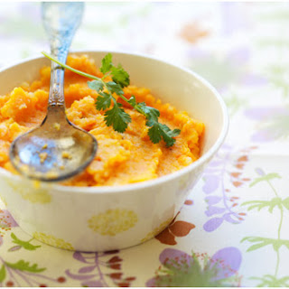 Coriander-flavored Carrot Mash with Coconut Milk