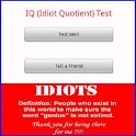 IQ (Idiot Quotient) Test logo