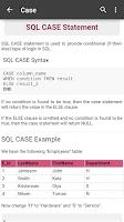 Screenshot of SQL Reference