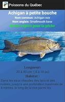 Screenshot of Fish of Quebec