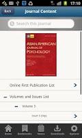 Screenshot of APA Journals Pro