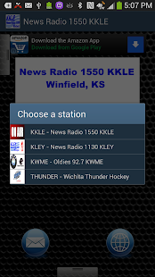 News Radio 1550 KKLE - screenshot thumbnail