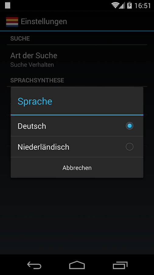 Offline German Dutch Dict.- screenshot