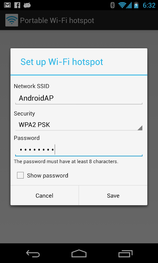 Portable Wi-Fi hotspot - screenshot