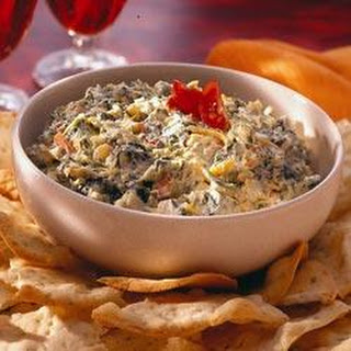 Easy Cheesy Spinach and Artichoke Dip.