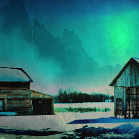 Come Home To The Country  by Michael Priest - Digital Art Places ( farm, wisconsin, winter, country )