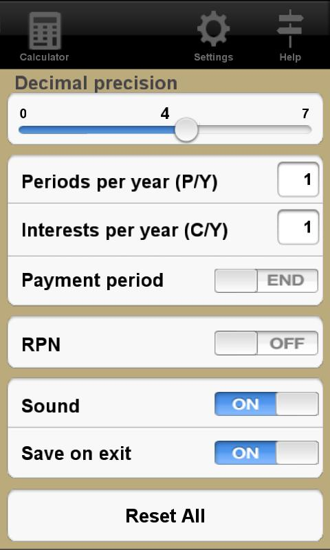 Financial Calculator Trial- screenshot