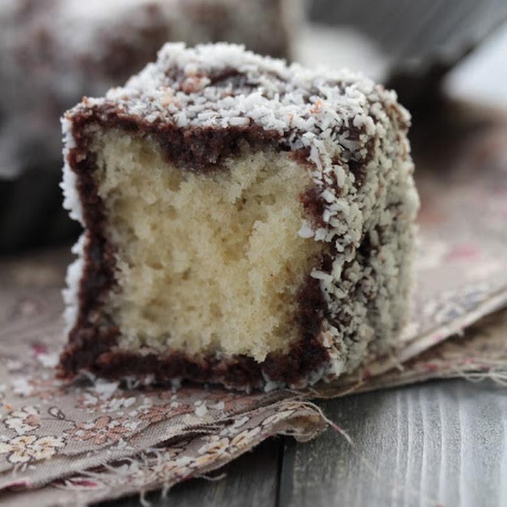 Lamingtons, Chocolate and Coconut Coated Australian Fluffy Cakes