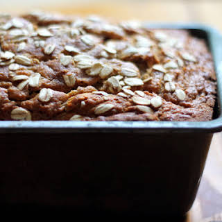 Whole Wheat Oatmeal Applesauce Banana Bread.
