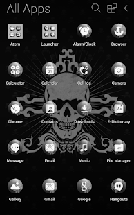 Black Skull Atom Theme- screenshot thumbnail