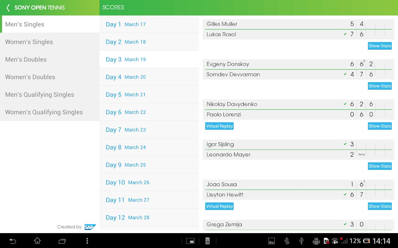 Sony Open Tennis - screenshot